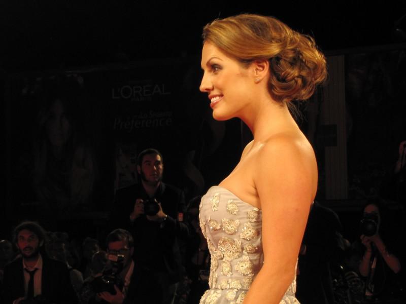 The Canyons a Venezia 2013 - una sorridente Tenille Houston sul red carpet