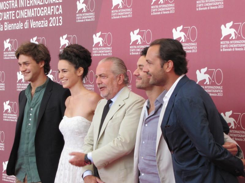 Il terzo tempo alla Mostra del Cinema 2013 - Aurelio e Luigi De Laurentiis, Lorenzo Richelmy, Margherita Laterza, Enrico Maria Artale