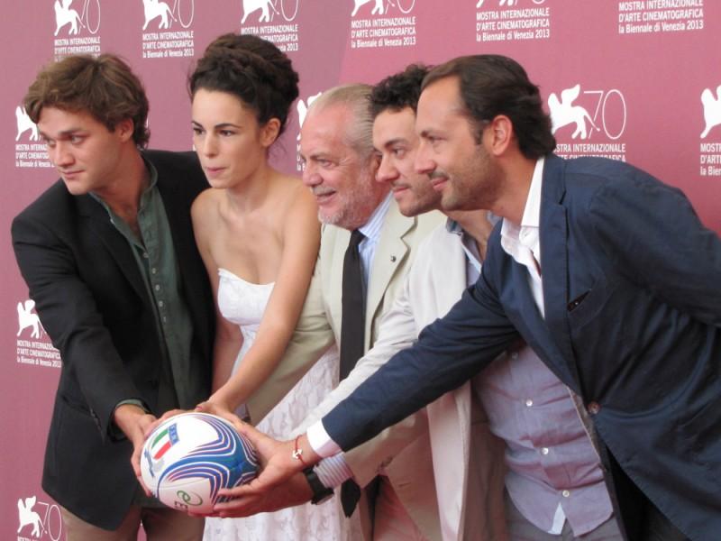 Il terzo tempo alla Mostra del Cinema di Venezia 2013 - Aurelio e Luigi De Laurentiis, Lorenzo Richelmy, Margherita Laterza, Enrico Maria Artale