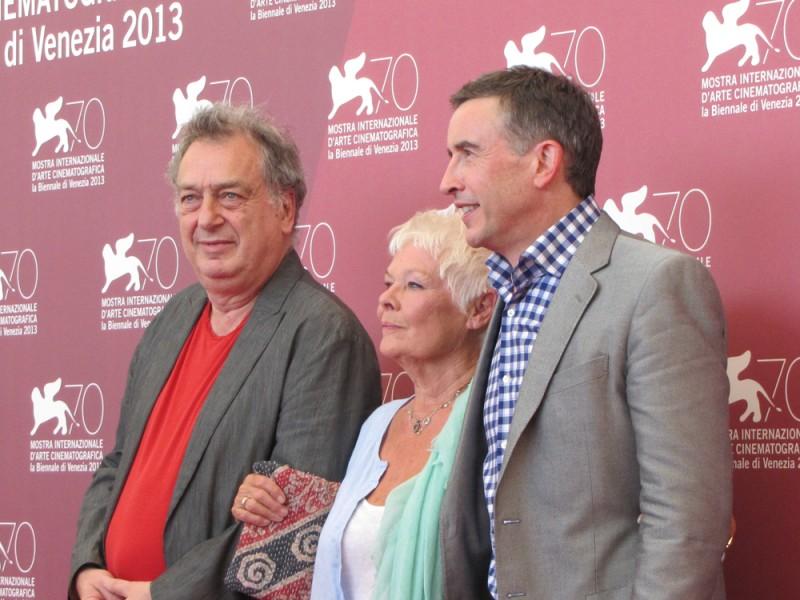 Philomena: Stephen Frears con Judi Dench e Steve Coogan presentano il film alla Mostra di Venezia, nel 2013