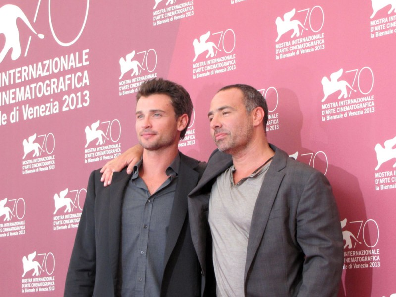 Tom Welling  e il regista Peter Landesman presentano il film Parkland alla Mostra di Venezia 2013