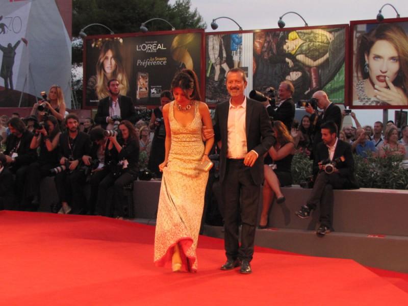 Venezia 2013 - Rocco Papaleo e Claudia Potenza sul red carpet del Premio Kineo