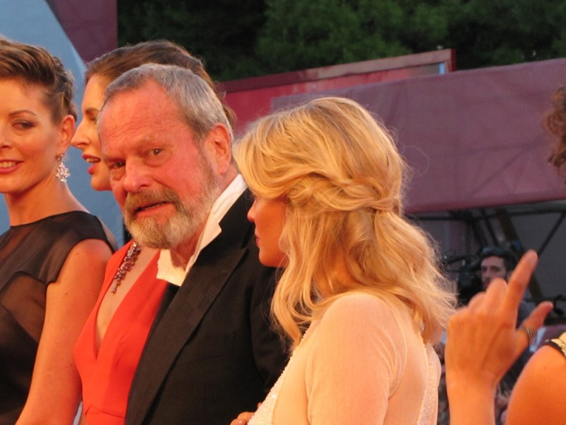 Melanie Thierry con Terry Gilliam  a Venezia 2013 con The Zero Theorem - immagine dal red carpet