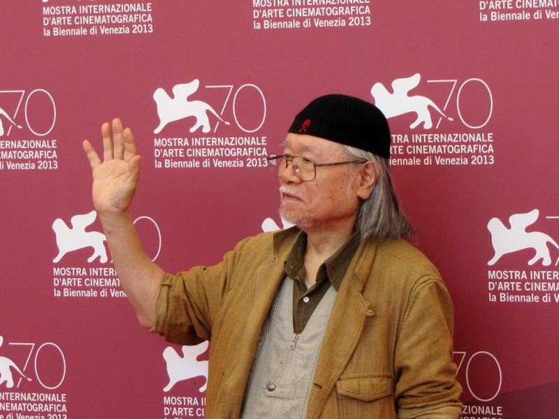Leji Matsumoto alla Mostra del Cinema di Venezial 2013 per presentare Capitan Harlock in 3D