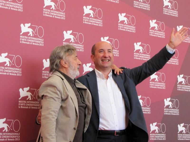 Mostra di Venezia 2013 - Antonio Albanese presenta L'intrepido accanto a Gianni Amelio