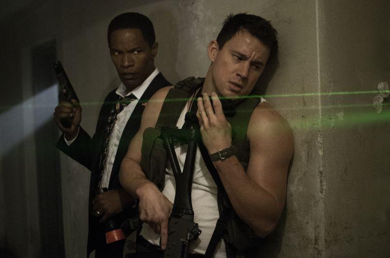 Channing Tatum con Jamie Foxx in Sotto Assedio - White House Down