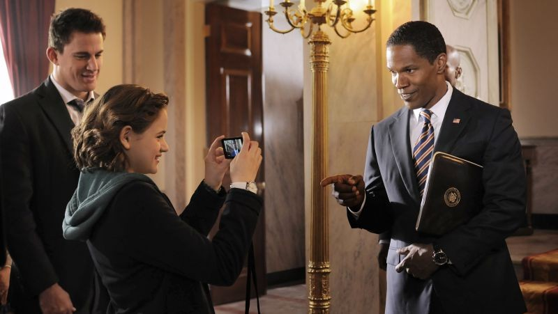 Channing Tatum con Jamie Foxx e Joey King in Sotto Assedio - White House Down