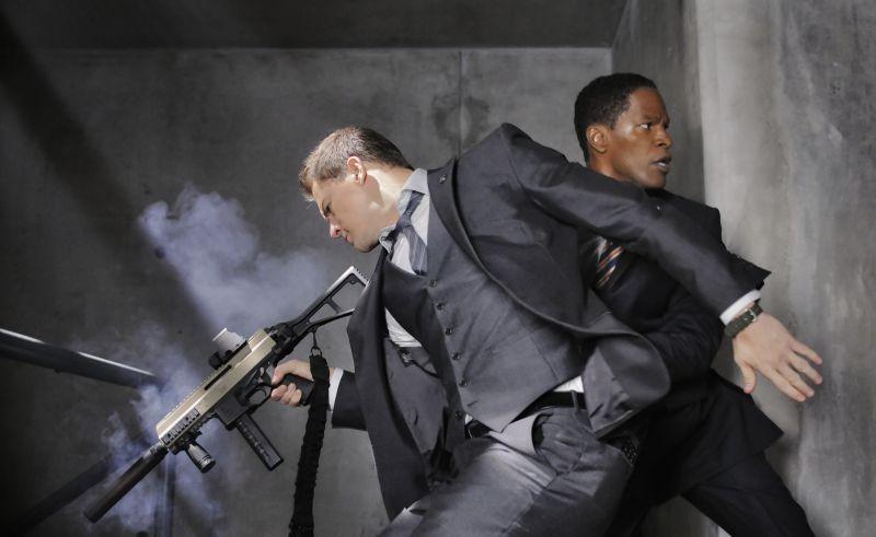 Channing Tatum e Denzel Washington in una scena di Sotto Assedio - White House Down