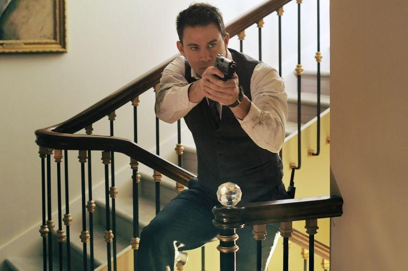 Channing Tatum in azione in un momento di Sotto Assedio - White House Down