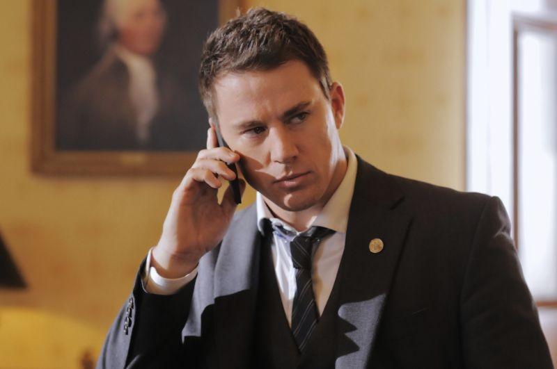 Channing Tatum in una scena di Sotto Assedio - White House Down