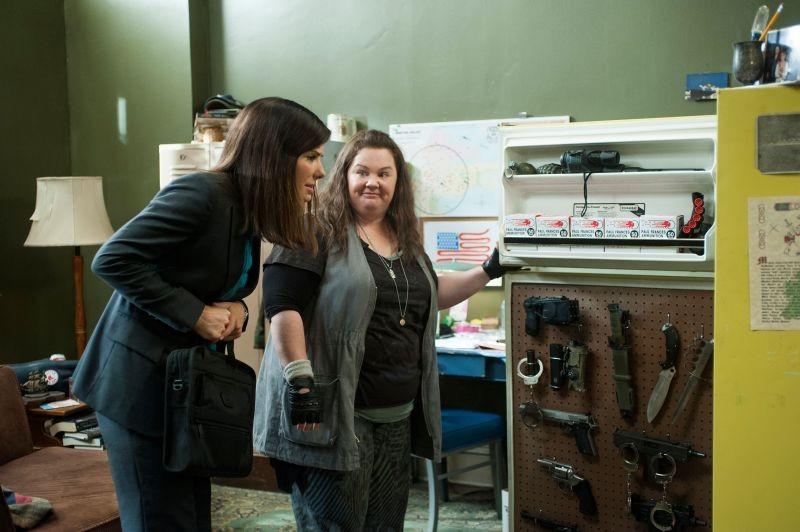 Corpi da reato: le protagoniste Sandra Bullock e Melissa McCarthy in una scena