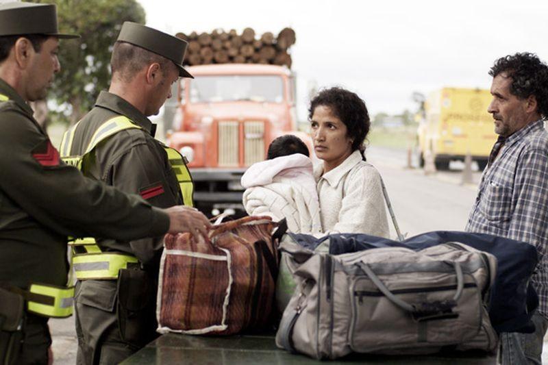 Las acacias: Germán de Silva ed Hebe Duarte sono Rubén e Jacinta in una scena del film