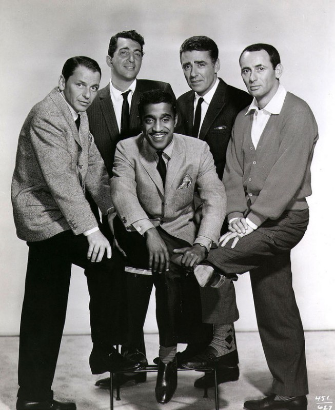 Il Rat Pack: Frank Sinatra, Dean Martin, Sammy Davis jr., Joey Bishop e Peter Lawford