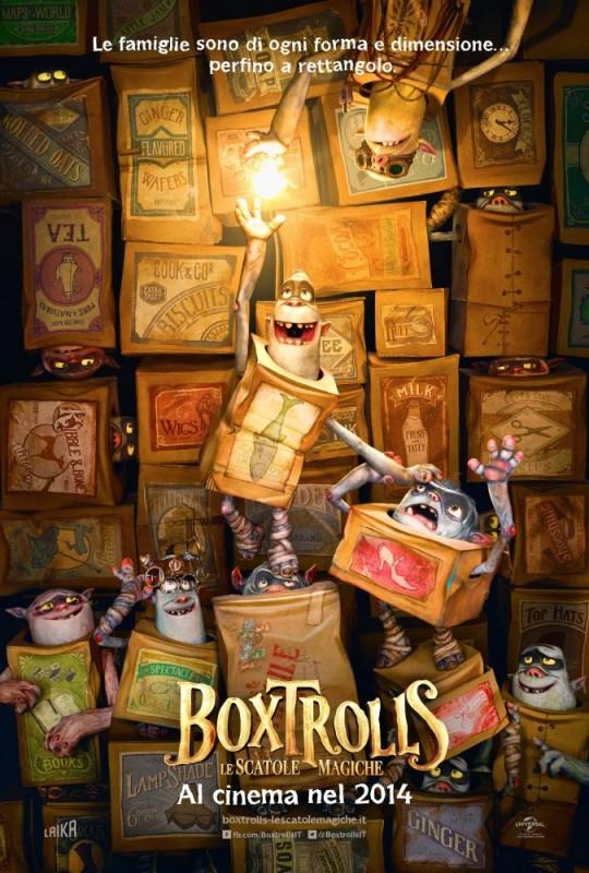 Boxtrolls - Le scatole magiche: il teaser poster itailano del film