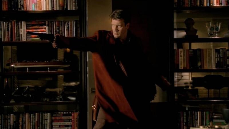 Nathan Fillion nell'episodio Vampire Weekend della serie Castle