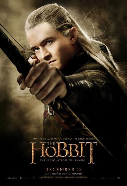 The Hobbit: la desolazione di Smaug - Il character poster di Orlando Bloom