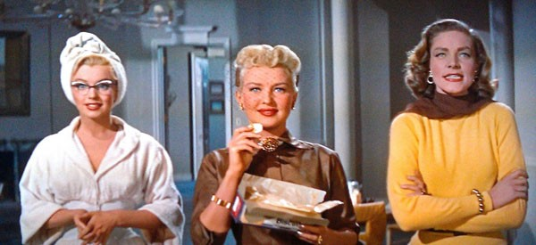 Come sposare un milionario: Marilyn Monroe con Betty Grable e Lauren Bacall