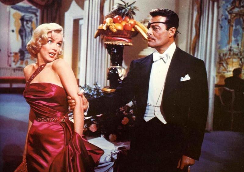 Marilyn Monroe in Come sposare un milionario con Alexander D'Arcy