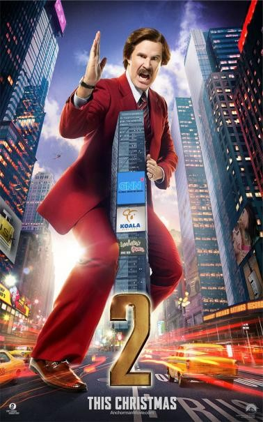 The Anchorman 2: il character poster di Will Ferrell
