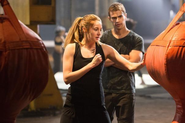Divergent: Shailene Woodley e Theo James si allenano