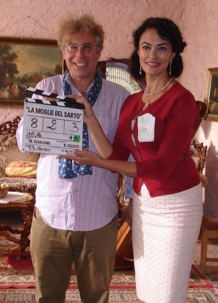 La moglie del sarto: Maria Grazia Cucinotta sul set con il regista Massimo Scaglione