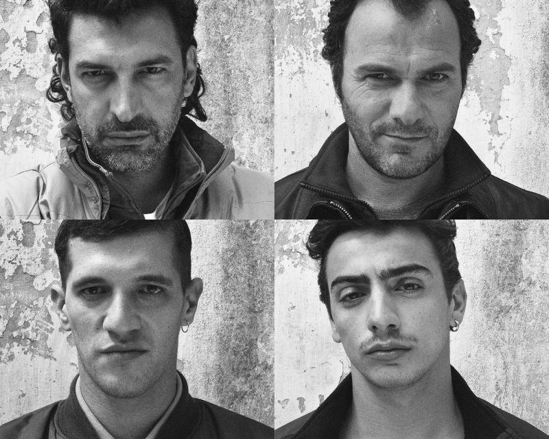 La santa: Gianluca Di Gennaro, Massimiliano Gallo, Michael Schermi e Francesco Siciliano in una'immagine promozionale