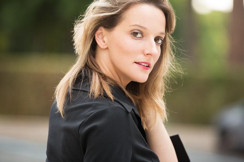 Maria Laura Caselli sul set