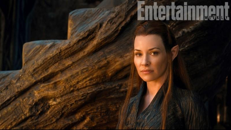 The Hobbit: la desolazione di Smaug: un primo piano di Evangeline Lilly nei panni di Tauriel