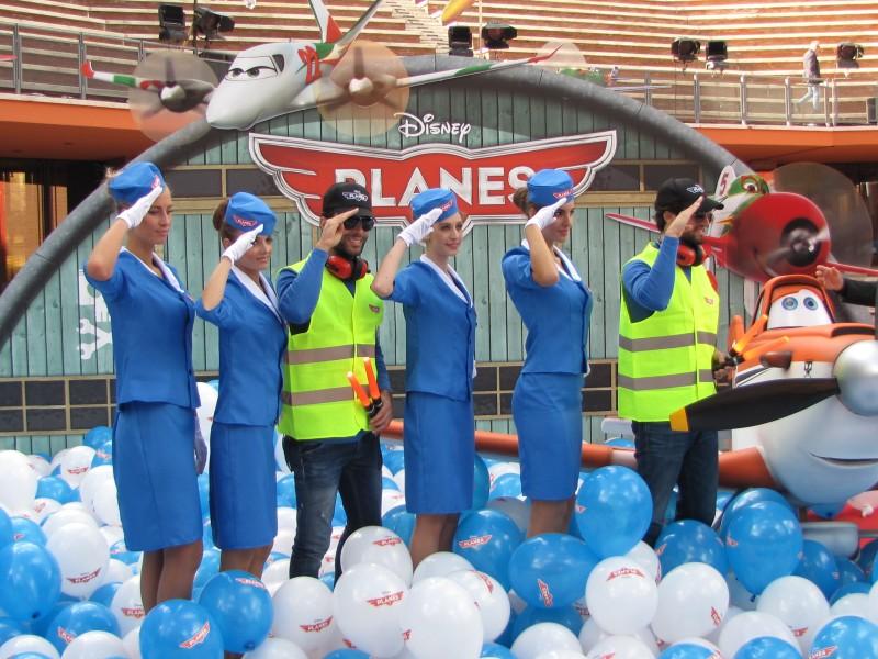 Festival di Roma 2013 - la presentazione di Planes sul tappeto rosso della kermesse