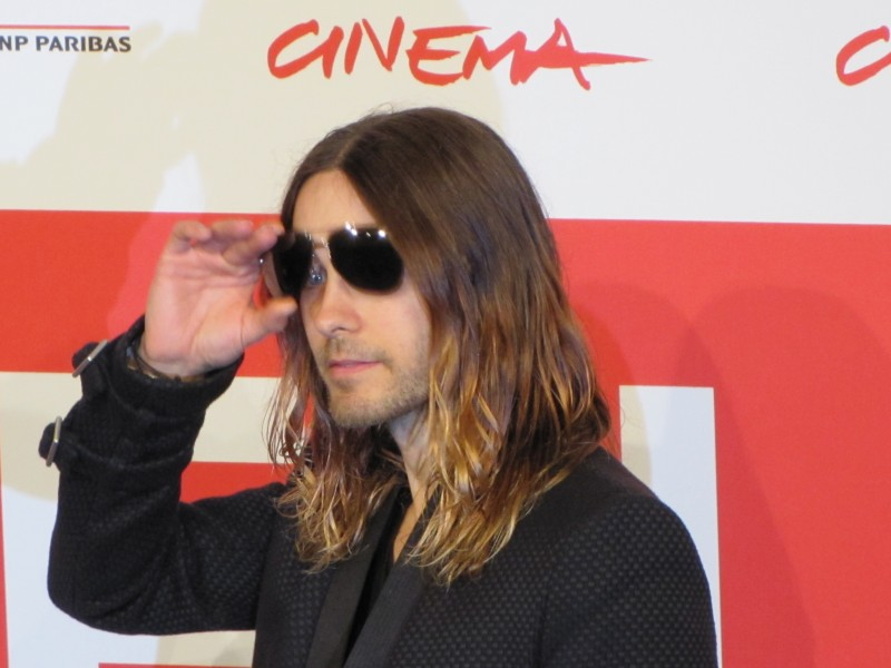 Jared Leto a Roma 2013 con Dallas Buyers Club