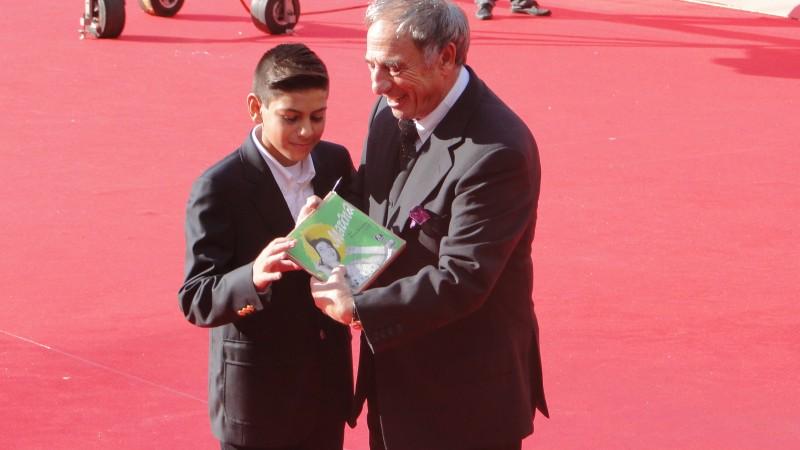 Roma 2013: Rocco Granata ed il piccolo Matteo Simoni sul red carpet per il film Marina