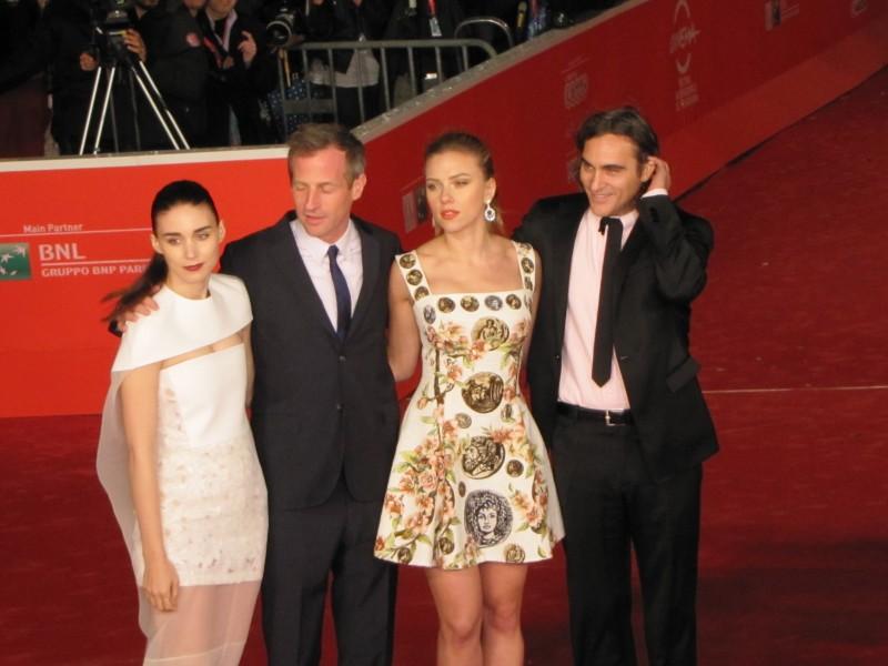 Her al Festival di Roma 2013 - Scarlett Johansson con Joaquin Phoenix, Rooney Mara e Spike Jonze sul red carpet