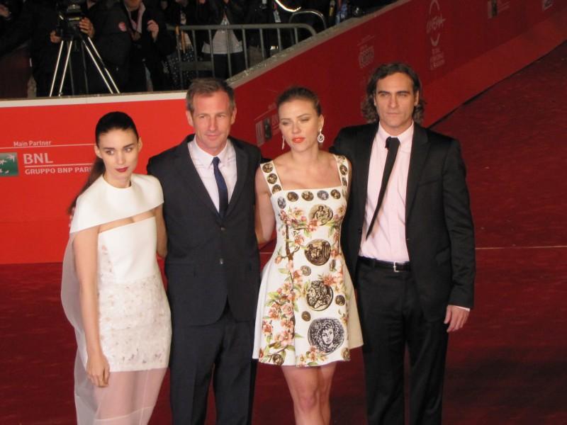Her al Festival di Roma 2013 - Scarlett Johansson, Joaquin Phoenix, Rooney Mara e Spike Jonze sul red carpet