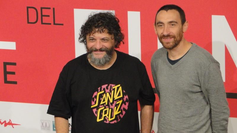 Song 'e Napule: i registi Marco ed Antonio Manetti posano a Roma 2013