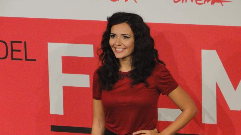 Song 'e Napule: Uno scatto di Serena Rossi al Festival di Roma 2013