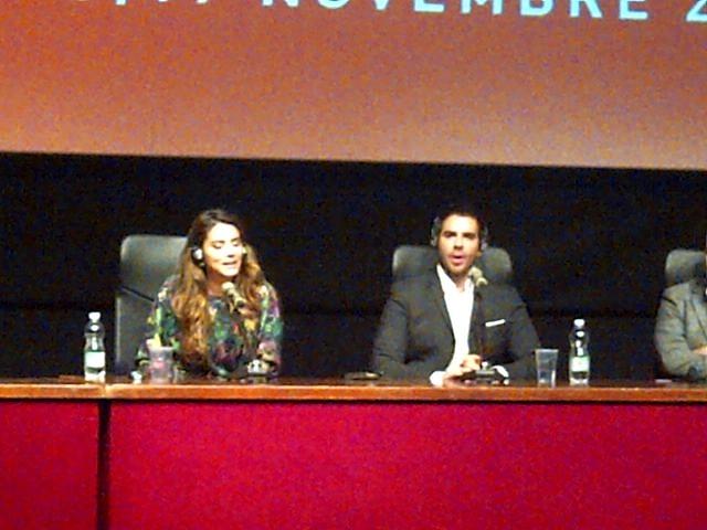 The Green Inferno: Eli Roth in conferenza stampa al Festival di Roma 2013 con Lorenza Izzo