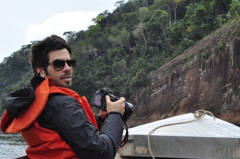 The Green Inferno: Eli Roth in un'immagine dal back-stage