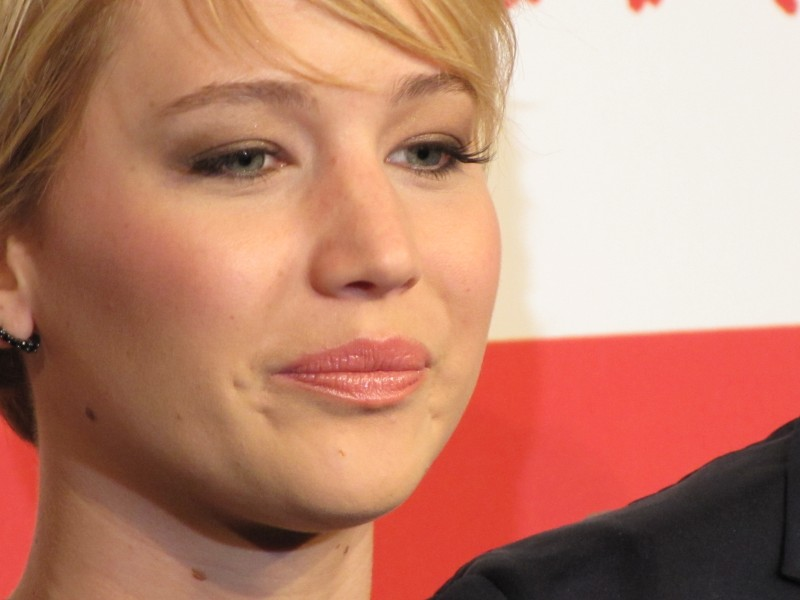 Hunger Games: la ragazza di fuoco - Jennifer Lawrence a Roma 2013, un primo piano dell'attrice