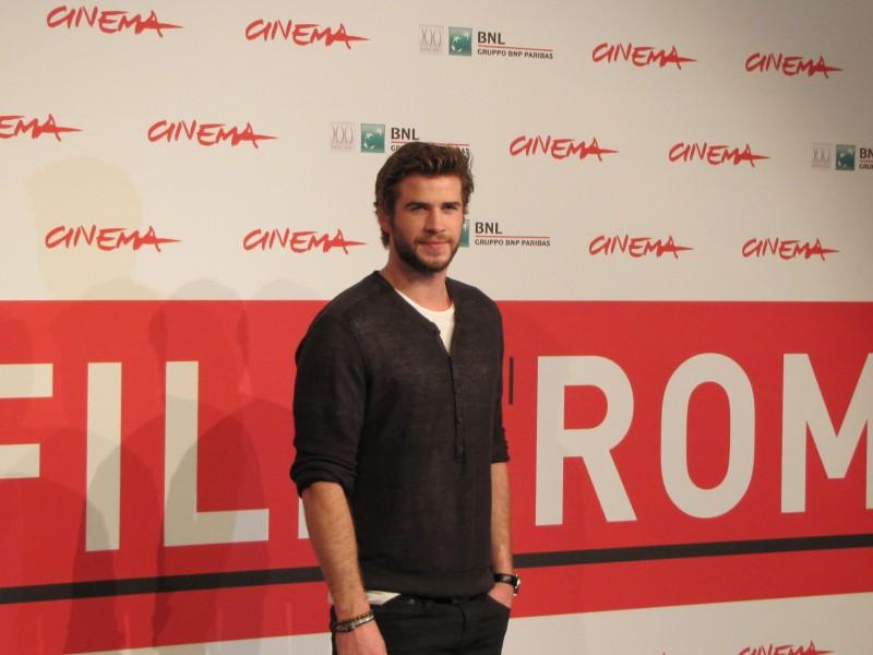 Hunger Games: la ragazza di fuoco, Liam Hemsworth al Festival di Roma, 2013