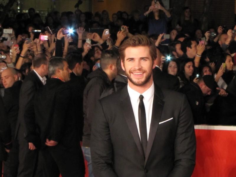 Hunger Games: la ragazza di fuoco, Liam Hemsworth al Festival di Roma 2013 sul red carpet