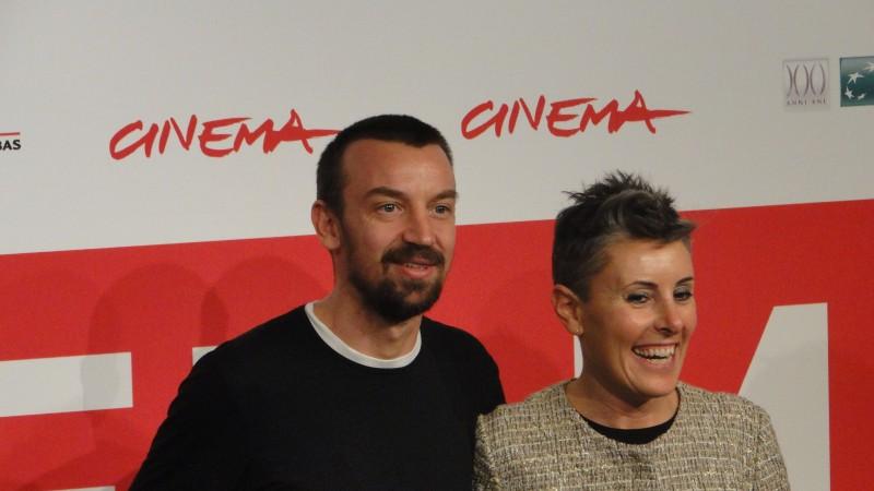 Roma 2013: Alberto Fasulo con la produttrice, e moglie, al photocall del film Tir