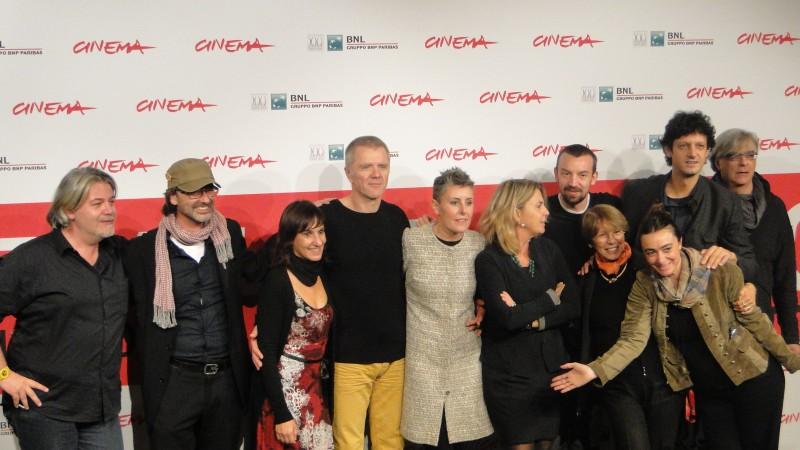 Roma 2013: Alberto Fasulo e Branko Zavrsan con la produttrice e lo staff al photocall del film Tir