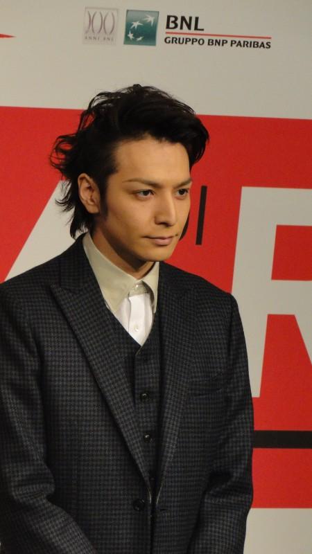 The Mole Song - Undercover Agent Reiji: l'attore Toma Ikuta posa al photocall del Festival di Roma 2013