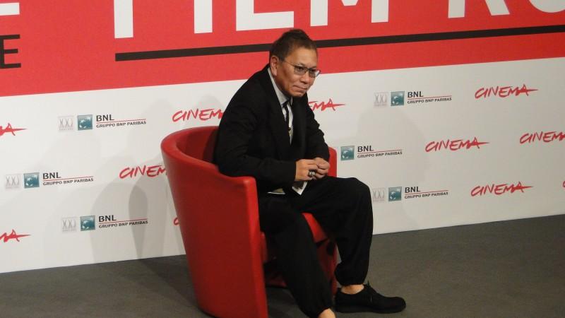 The Mole Song - Undercover Agent Reiji: Takashi Miike posa al photocall del Festival di Roma 2013