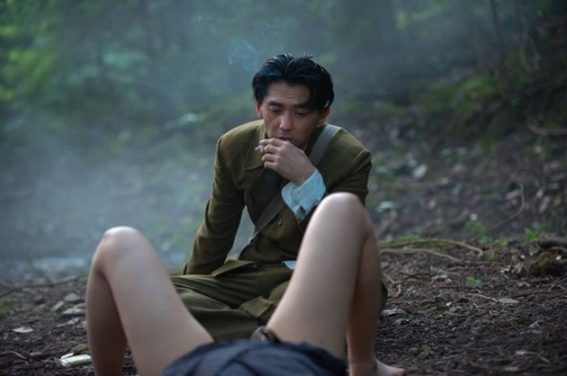 A Woman and War: Jun Murakami in una scena del film