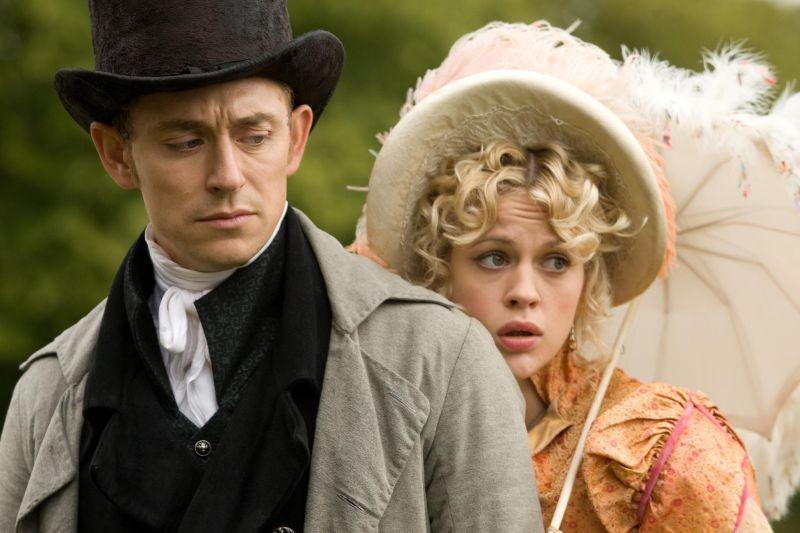 Austenland: Georgia King e JJ Feild in una scena del film