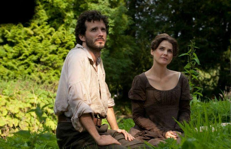 Austenland: Keri Russell con Bret McKenzie in una scena