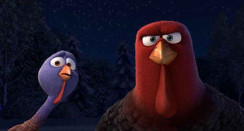 Free Birds - Tacchini in fuga: una scena tra pennuti tratta dal film