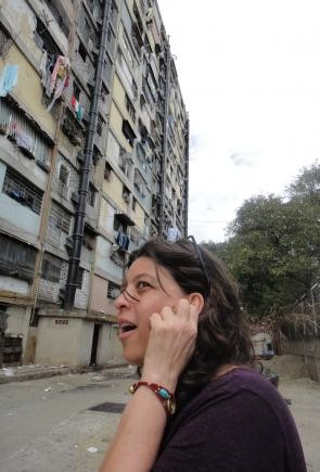 Pelo Malo: la regista del film Mariana Rondón sul set
