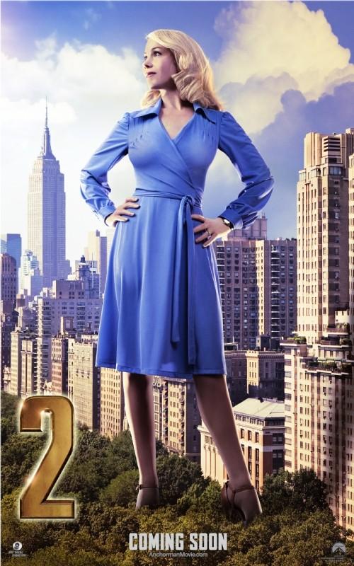 The Anchorman 2: il character poster di Christina Applegate